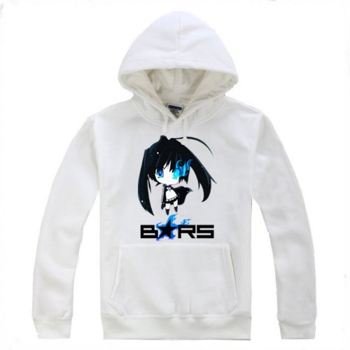 BRS Black Rock Shooter Cosplay Costume White Hoodie Size XXL