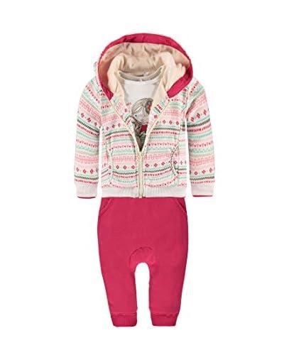 Kanz Trainingsanzug rosa/weiß