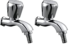 Hindware F330040CP Contessa Plus Bib Tap With Nozzle Garden Tap (Chrome, Pack of 2)