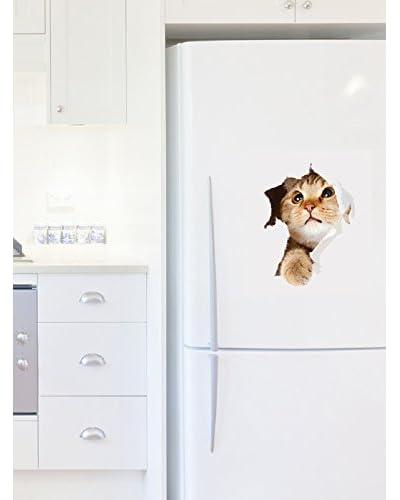 Ambience Live Vinilo Decorativo Cat In Hole