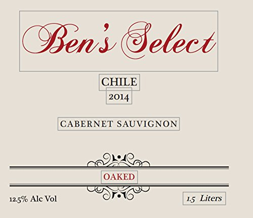 "2014 Ben Ish Winery ""Ben'S Select"" Chilean Cabernet Sauvignon With Personalized Label 1.5 L"