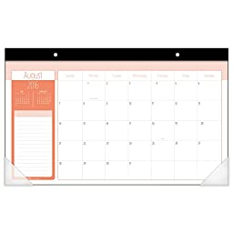 Mead Academic Year Monthly Desk Pad Calendar, Aug 2016-July 2017, Student, 17-3/4\