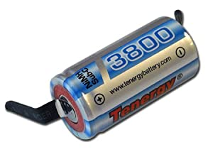 12 Pcs of Matched Sub C 3800mAh NiMH Battery with Tabs