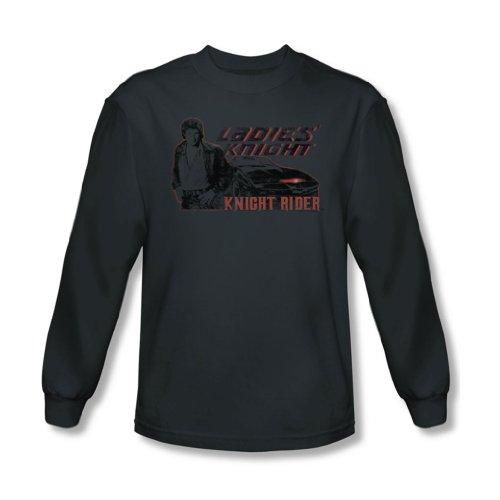Knight Rider da cavaliere-Maglia a maniche lunghe, da donna, colore: carbone