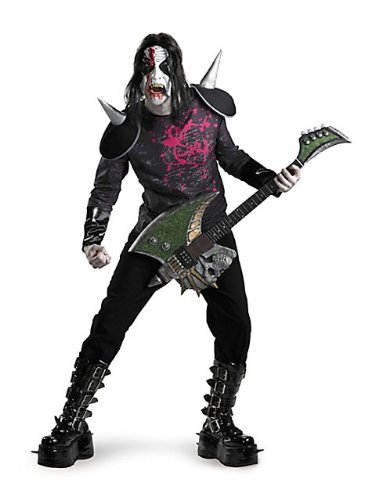 Adult All New Metal Mayhem Costume (Shoes/Pants/Guitar/Make-up not included)
