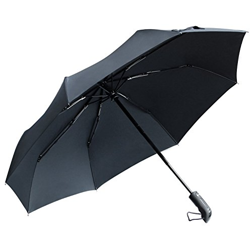 TOTU 60 MPH Windproof Umbrella Strong Waterproof Auto Open Close Portable and Mini Lightweight for Easy Carrying Compact Durability Umbrella w/ 8 Resin-Reinforced Fiberglass Ribs