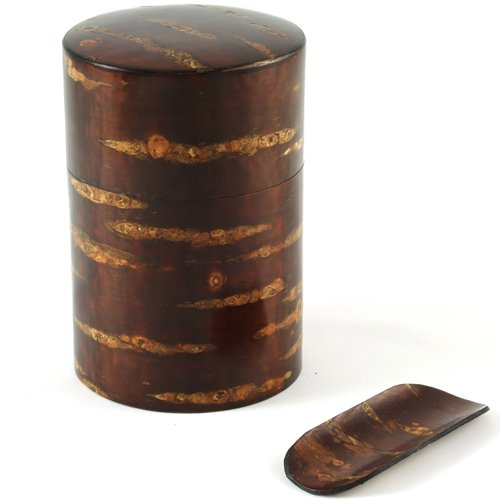 Polished Cherry Bark Tea Caddy All-Wooden - 120g