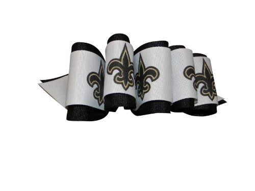 OFFICIALLY LICENSED NFL FANBOW or Loop Bow Hair ACCESSORY (#003 Loop Bow, New Orleans Saints) at Amazon.com