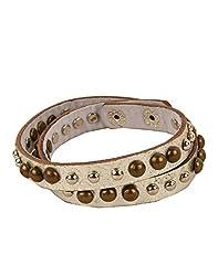 Tiekart Silver Embelished Men Bracelet/Cuffs