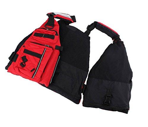 Kayak life vest adult detachable jacket aid sailing for Best life jacket for kayak fishing