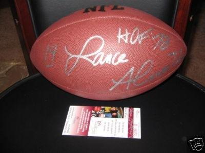 Lance Alworth Autographed Football - hof Jsa coa - Autographed Footballs
