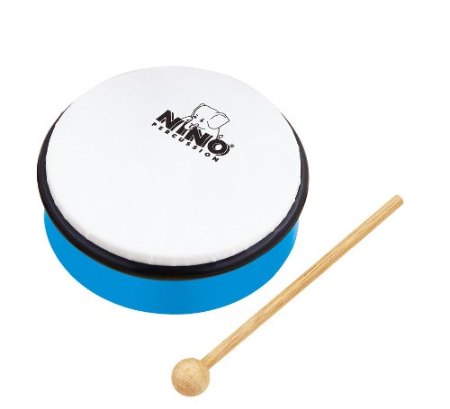 Nino Percussion NINOSET3 Hand Percussion Rhythm Set with Egg Shakers, Claves, Jingle Stick, and Frame Drum