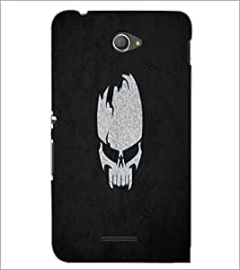 PrintDhaba Skull D-2217 Back Case Cover for SONY XPERIA E4 (Multi-Coloured)