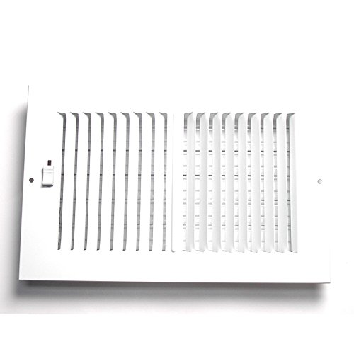 Accord AASWWH2106 Sidewall/Ceiling Register with 2-Way Aluminum Design, 10-Inch x 6-Inch(Duct Opening Measurements), White (Accord Wall Register compare prices)