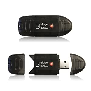 ELYEL CORPORATION ELAGO USB High Speed Memory Card Reader/Writer for SD and SDHC, Black (EL-RD-000)