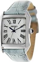 Seiko White Dial Blue Leather Ladies Watch SXGP23P1