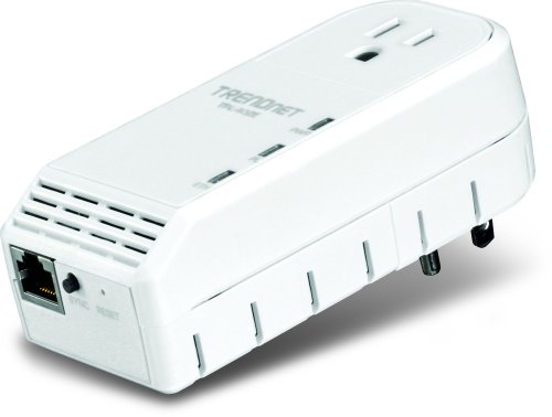 TRENDnet TPL-402E 500 Mbps Powerline AV Adapter with Bonus Outlet