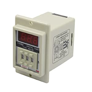 ASY-3D AC 48V 99.9 Minute Digital Timer Programmable Time Delay Relay White