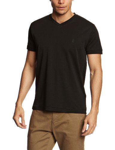 French Connection Interlock V Men's T-Shirt Black X-Large