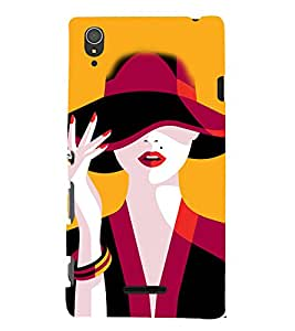 Beautiful Woman Cute Fashion 3D Hard Polycarbonate Designer Back Case Cover for Sony Xperia T3