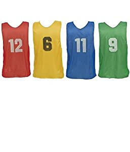 Champion Sports Youth Numbered Practice Vests by Champion Sports