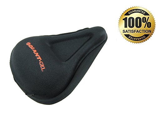 Exercise Bike Gel Seat Cover Durable Soft Black Saddle Cushion Pad for Comfortable Ride with Thick Gel for Stationary Bicycle Cycling