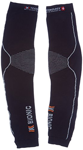 X-Bionic adulto funzione abbigliamento Biking OW Arm Warmer Light DX SX No Seam, Unisex, Funktionsbekleidung Biking OW Arm Warmer Light DX SX No Seam, Nero - black/pearl grey, L/XL