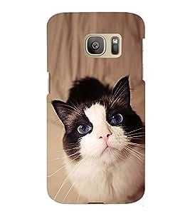 EPICCASE innocent cat Mobile Back Case Cover For Samsung Galaxy S7 Edge (Designer Case)