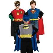 Boys Kids Childrens Super Hero Robins Batman Superman Trio Box Rubie'S Costume Costume Halloween Outfit