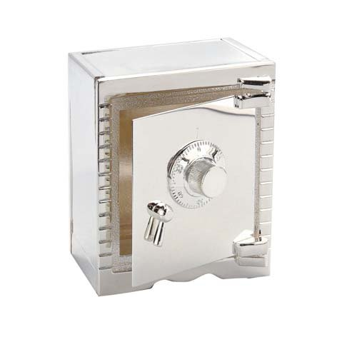 Elegance Silver Vault Bank, Silver Plated