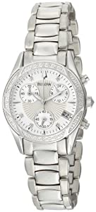 Bulova Women's 96R134 Diamond Case Mother-Of-Pearl Dial Bracelet Watch from Bulova