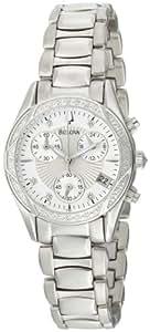 Bulova Women's 96R134 Diamond Case Mother-Of-Pearl Dial Bracelet Watch