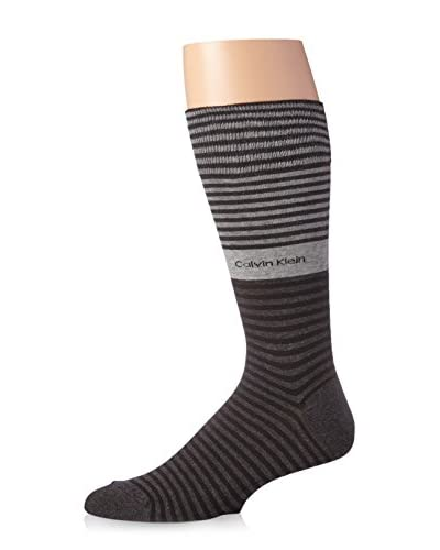 Calvin Klein Men's Bold Striped Cuff Crew Sock