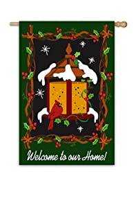 Garden Sized Applique Flag: Welcome to Our Home