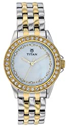Titan Analog White Dial Womens Watch - NE9798BM02J