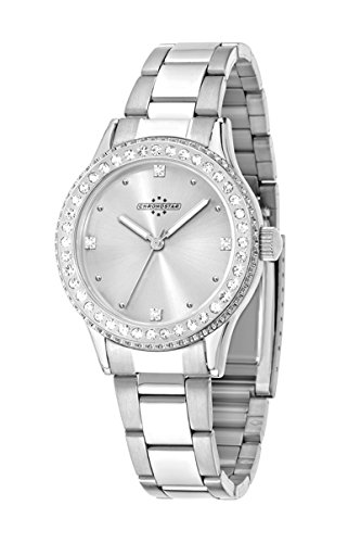 Chronostar Princess-Orologio da donna al quarzo con Display analogico e cinturino in acciaio INOX color argento R3753242505
