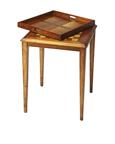 Butler Specialty Company Game Table, Olive Ash Burl
