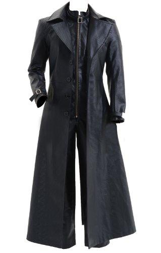 [CosDaddy® Cosplay Costume Albert Wesker Black Coat Jacket,Men-Medium] (Leon Kennedy Costumes)