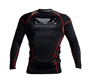 Bad Boy Tech Performance Top - Black Red by Bad Boy