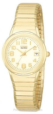 CITIZEN Watch:Citizen Women's EW0702-92A Eco-Drive Silhouette Gold-Tone Expansion Bracelet Watch Images