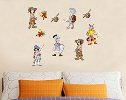 """Cartoon""""Town Guards""""Children Bedroom Wall Stickers front-1049138"""