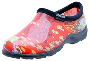 Sloggers 5104RD06 Womens Garden Shoe, Paisley Red, Size 6