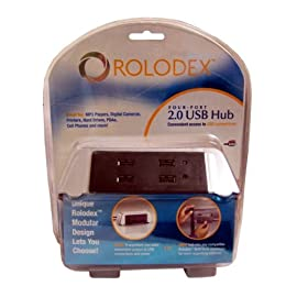 Four-Port 2.0 USB Hub by Rolodex