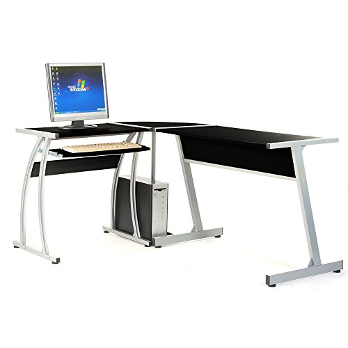 Online Shopping Study Table: Allinone Corner L-shaped Desk Computer Table Notebook