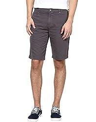 Zess Men's Cotton Shorts (8903862962344_Grey_32)