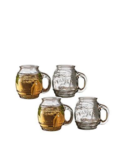 Circleware Set of 4 Family Recipe 17.5-Oz. Mugs, Clear