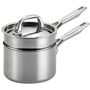 Anolon Tri-Ply Clad Stainless Steel 3-Piece Double Boiler Set by Anolon