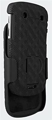 For Blackberry Bold 9900 9930 Black Rubberized Textured Hard Case Cover Holster w Rotating Swivel Belt Clip Stand Combo by KarenDeals