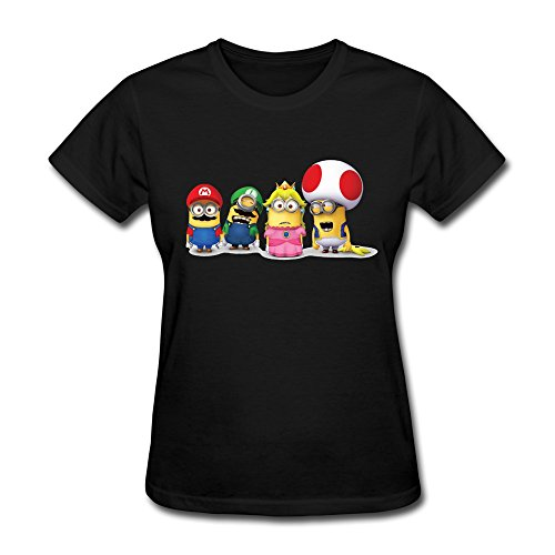 HUBA Women's T-shirt Super Mario Bros 3 Minions 3 Black