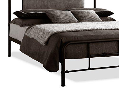 Wholesale Interiors Baxton Studio Nashville Metal Platform Bed With Upholstered Headboard Queen